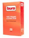 Сухие чистящие салфетки BURO, безворсовые, 20 шт. (3)