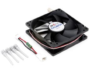 Вентилятор Zalman ZM F2 Plus 92мм черный антивибрационные винты и резистор