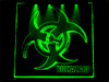 ���� � ����������� � ���������� Biohazard 150�150�� ������� BZ-20-green
