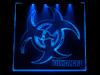 Окно с гравировкой и подсветкой Biohazard 150х150мм синий BZ-20-blue