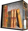 Глянцевые обои для корпуса (миди-тауер) – 'Books' (Размер 48Х43)