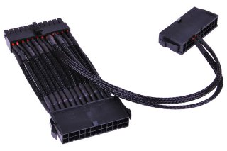 Соединительный кабель Phobya 24Pin 2 way PSU starting cable 2x24 1x24 Black87470