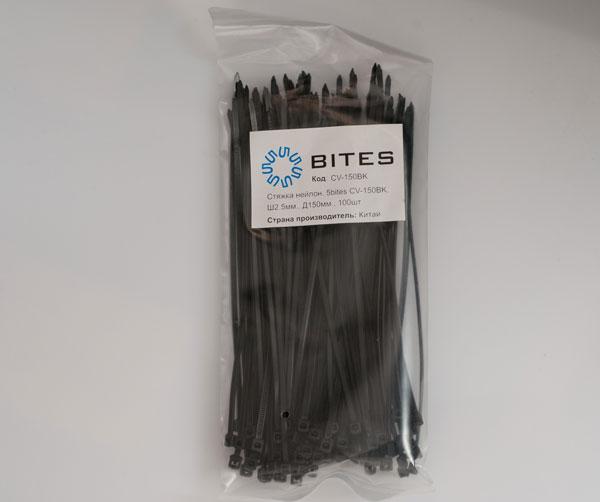 Стяжки нейлоновые 5bites CV-150BK черные 2.5мм длина 150мм 100 штук