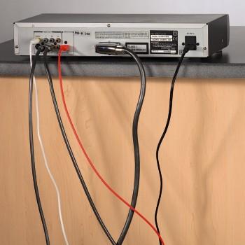 Крепежи для кабелей пластмассовые черные Hama 20605 набор из 10шт
