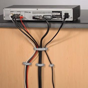 Крепежи для кабелей пластмассовые серебристые Hama 20606 набор из 10шт.
