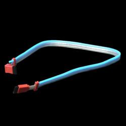 S ATA кабель  50 см  с одним встроенным неоновым шнуром синего цвета