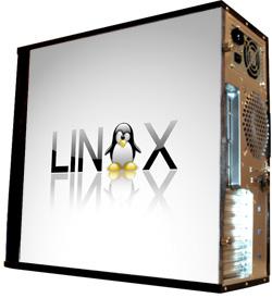 Глянцевые обои для корпуса  миди тауер     Linux   Размер 48Х43