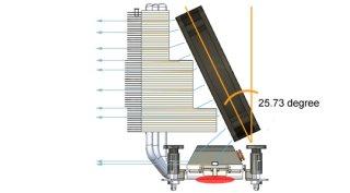 Наклонное расположение вентилятора у кулера VCT-9000