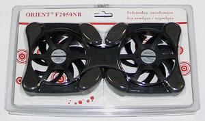Кулер для ноутбука Orient F2050NB пластиковый черный
