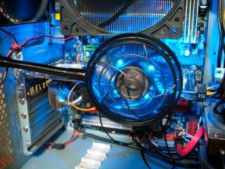 Вентилятор Antec Spot Cool точечный с подсветкой синей на гибкой ножке