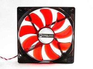 Вентилятор с подсветкой красной 140 мм Prolimatech Red Vortex 14 LED для ПК