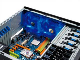 Вентилятор с подсветкой синей 140мм CoolerMaster Blue LED silent fan R4L4S10ABGP