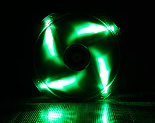 Вентилятор с подсветкой зеленой 230мм BitFenix Spectre LED Green BFFBLF23030GRP