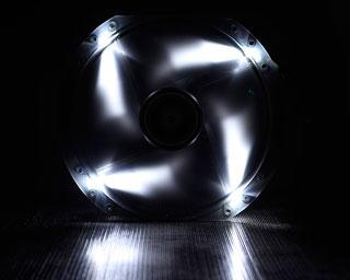 Вентилятор с подсветкой белой 230мм BitFenix Spectre LED White BFFBLF23030WRP