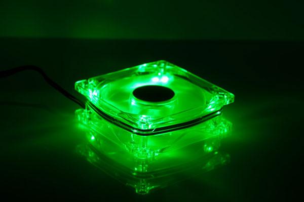 Вентилятор с подсветкой зеленой светодиодной Gembird