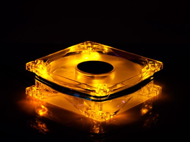 Вентилятор с подсветкой оранжевой светодиодной Gembird
