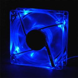 Вентилятор синий со СТРОБ  эффектом