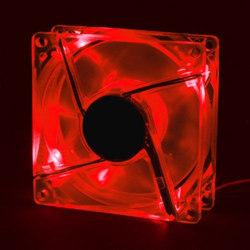 Вентилятор  красный со СТРОБ  эффектом