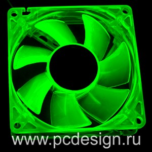 Флуоресцентный вентилятор   зеленый