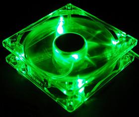 Вентилятор с подсветкой зеленой 120мм Exegate Fan 12025M12B LED3