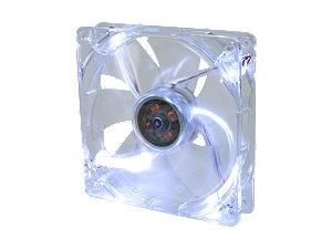 Тихий вентилятор с подсветкой белой 120 мм
