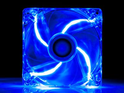Вентилятор с подсветкой синей 120мм Exegate Fan 12025M12B LED2