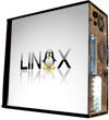 Глянцевые обои для корпуса (миди-тауер) – 'Linux' (Размер 48Х43)
