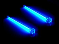 Комплект из 2 х синих ламп 30 см  с инвертором