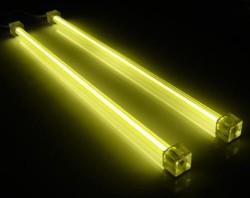 Комплект из 2 х желтых  ламп 30 см  с инвертором