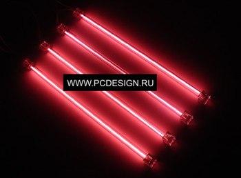 Светоманский набор из 4 х неоновых ламп красного цвета 30см  с 2 мя инверторами