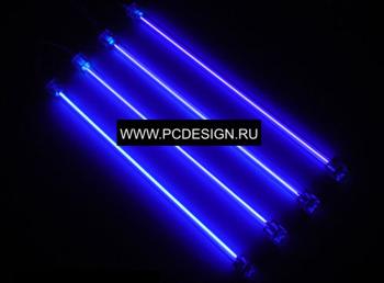 Светоманский набор из 4 х  ультрафиолетовых ламп 30см  с 2 мя инверторами