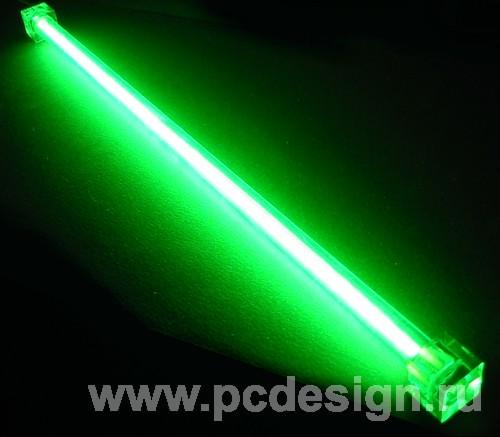 Дополнительная неоновая лампа  зеленая  30 см  без инвертора