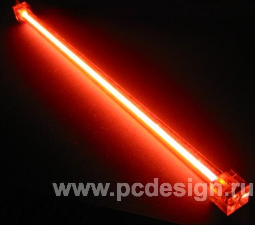 Дополнительная неоновая лампа красная 10см без инвертора