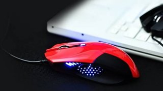 Игровая мышь с подсветкой красная Enzatec X Luca Teamscorpion XMS001RE