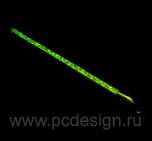 Лампа Vizo   зеленая плазменная  длина 31 см