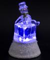 USB Снеговик сидящий на ледяном кубике с подсветкой NY-5064