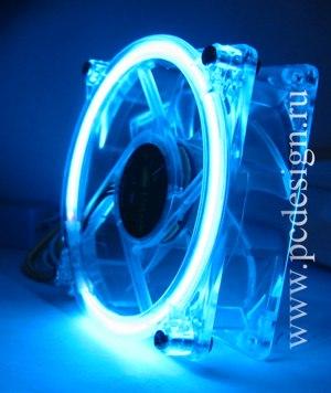 Вентилятор 120 мм с синим неоновым кольцом
