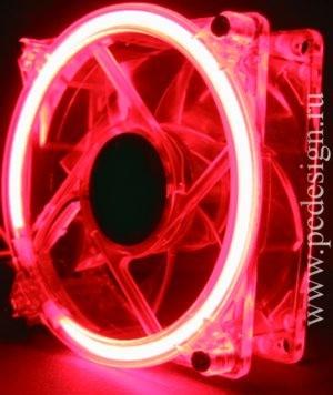 Вентилятор 120 мм с красным неоновым кольцом