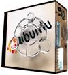 Глянцевые обои для корпуса (миди-тауер) – 'Ubuntu' (Размер 48Х43)