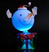 USB Новогодний сувенир Снежок на подарке с подсветкой Orient NY5184