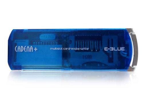 Картридер внешний USB 2 0 E Blue CADENA  ERD039 синий компактный 56 в 1