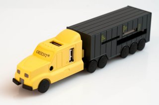USB Хаб картридер Грузовик Orient TR-575 желто-серый