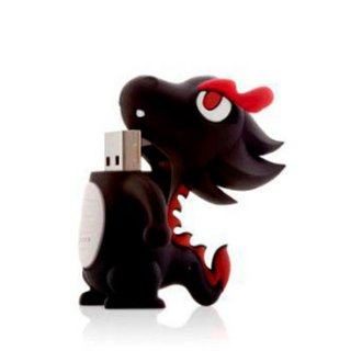Флешка дракон черный  4 ГБ Bone Dragon Driver USB