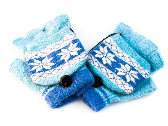 Перчатки с подогревом  USB   синие Orient UG 011