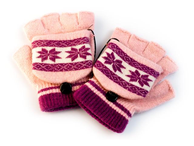Перчатки с подогревом  USB   пурпурно розовые Orient UG 011