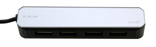 USB концентратор на 4 порта USB2 0 E Blue LYSIUM EHB020BK черный зеркальный
