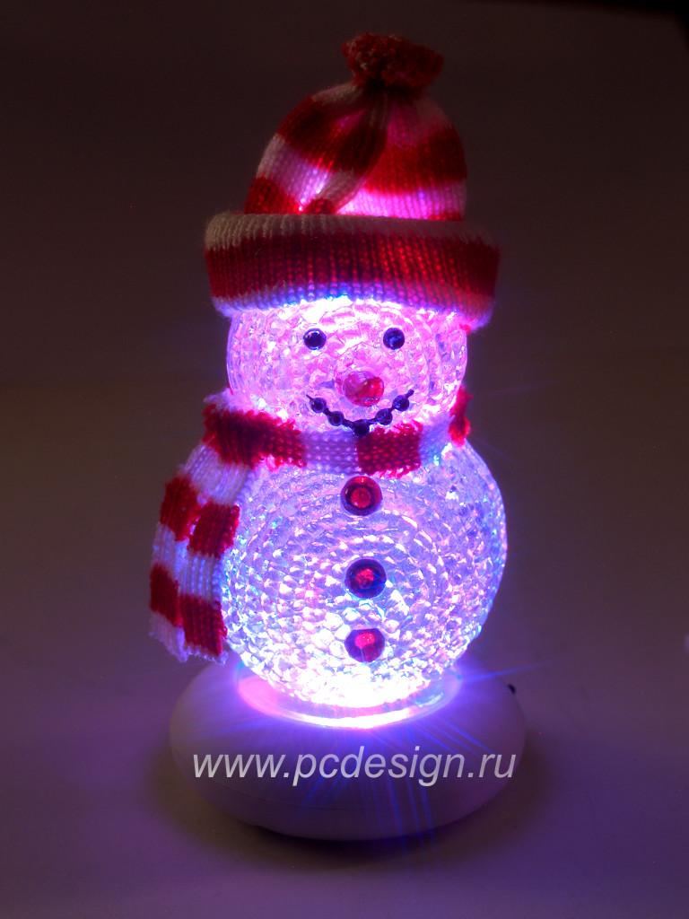 Светящейся снеговик своими руками