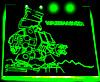 Окно для корпуса с гравировкой и подсветкой,  Warhammer зеленый WM-10-green