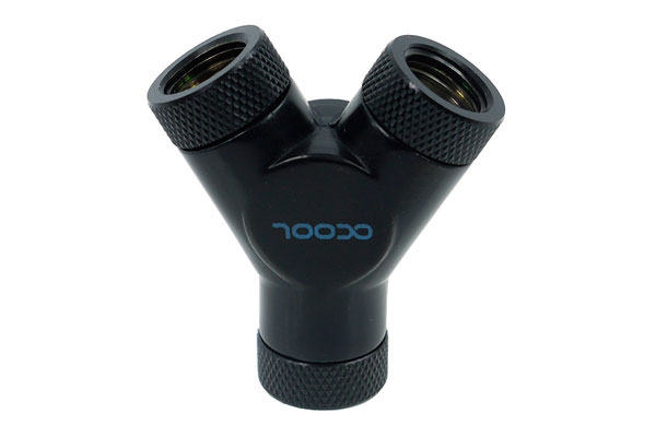 Фитинг тройник Alphacool HF Y connector 3xG1 4 Deep Black 17066 черный