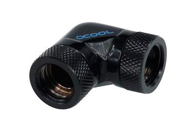 Фитинг соединительный Alphacool HF форма L 90град G1 4 Deep Black 17039 черный